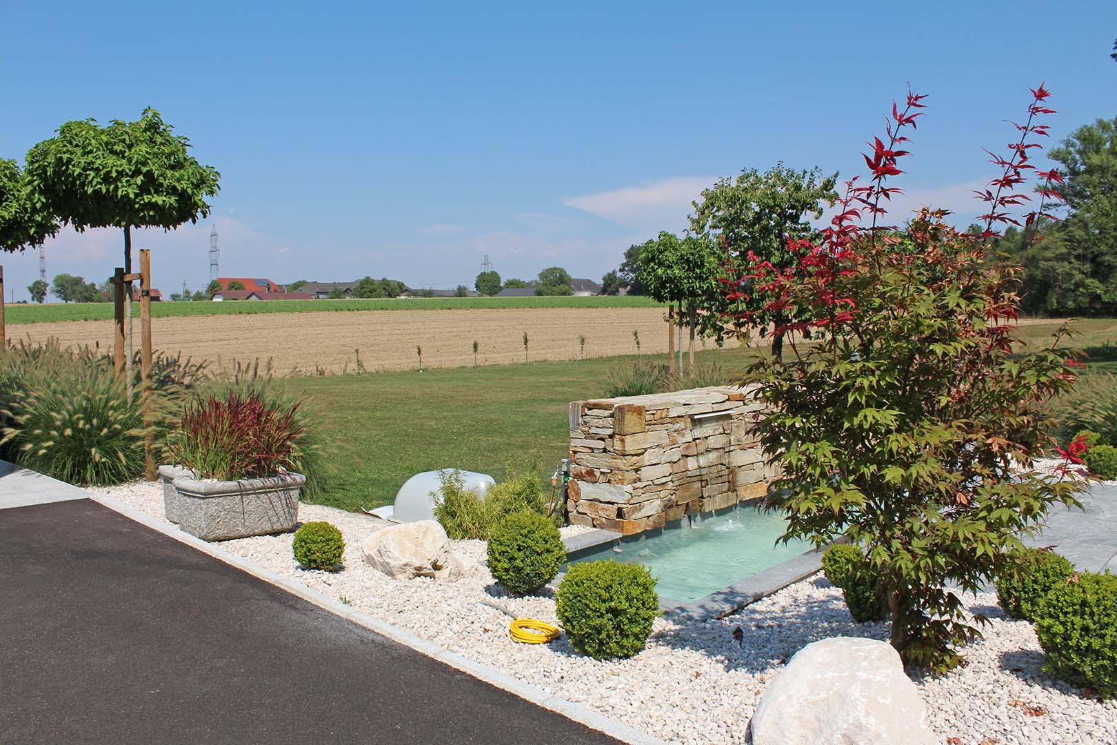 Gartengestaltung Brunnen