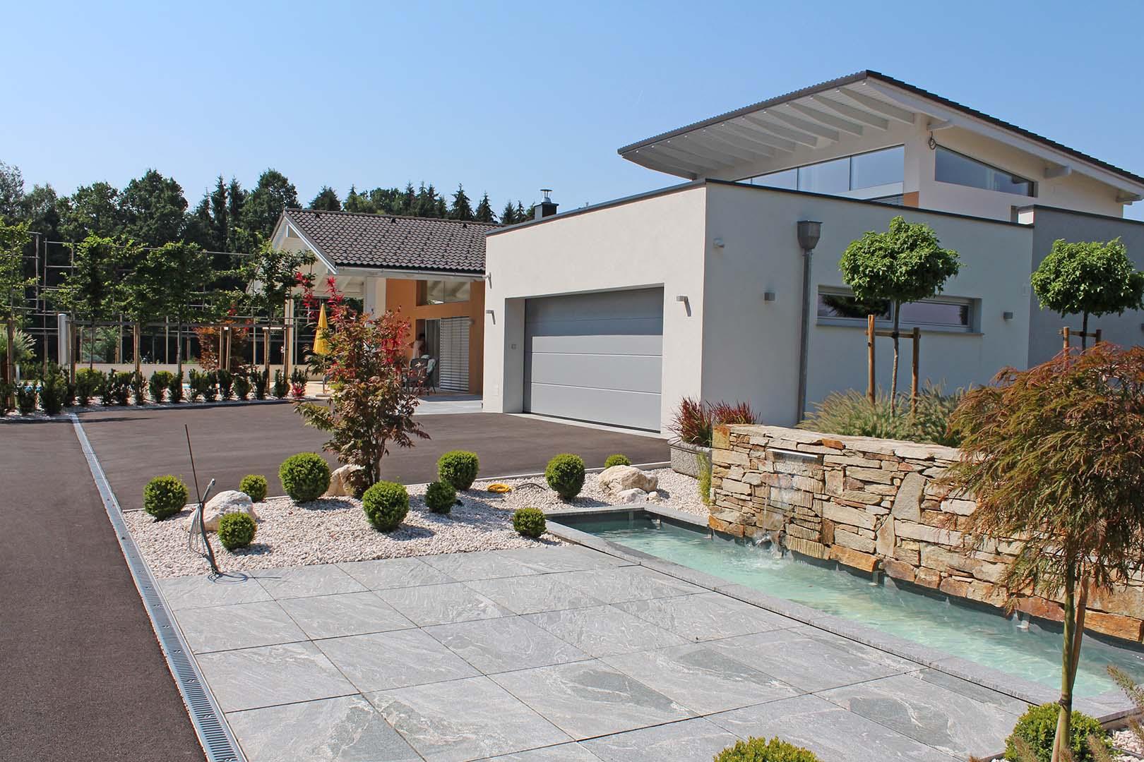 Gartenplanung Mauerbau