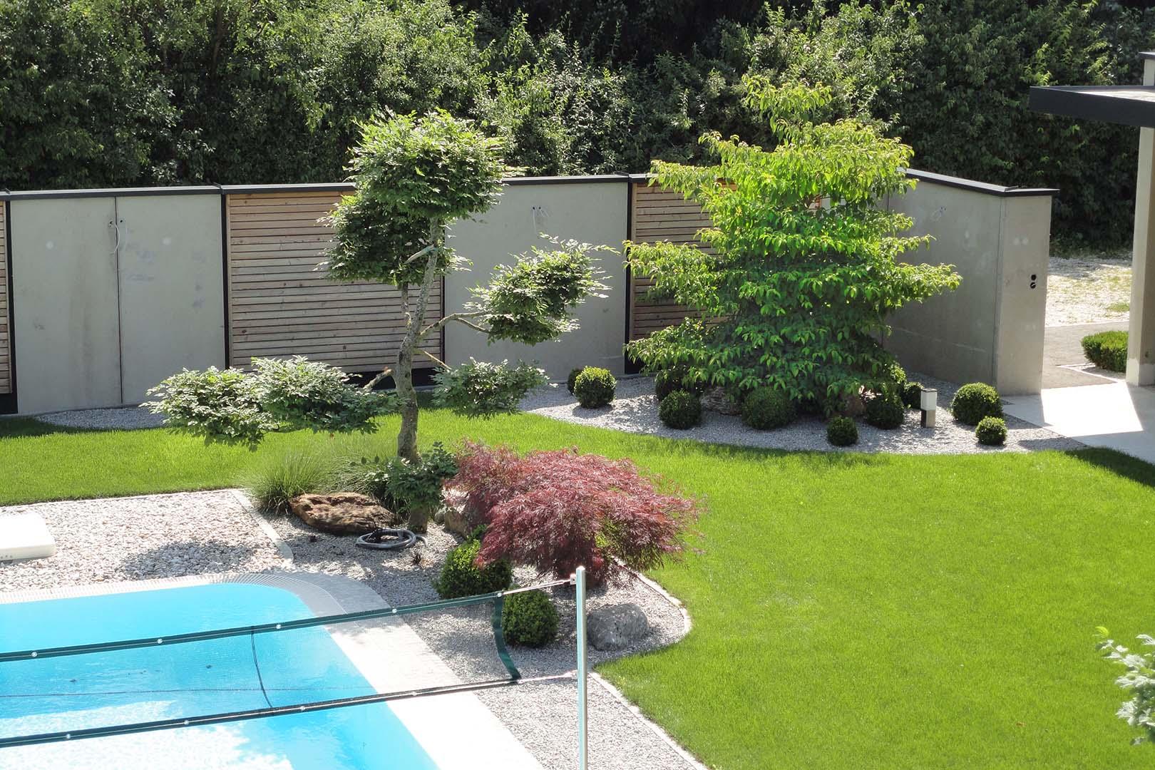 Gartengestaltung Grünpflanzen