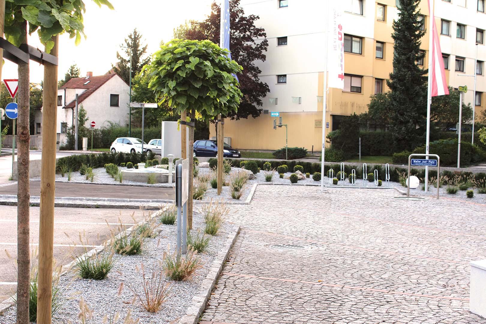 Gartengestaltung Parkplatz