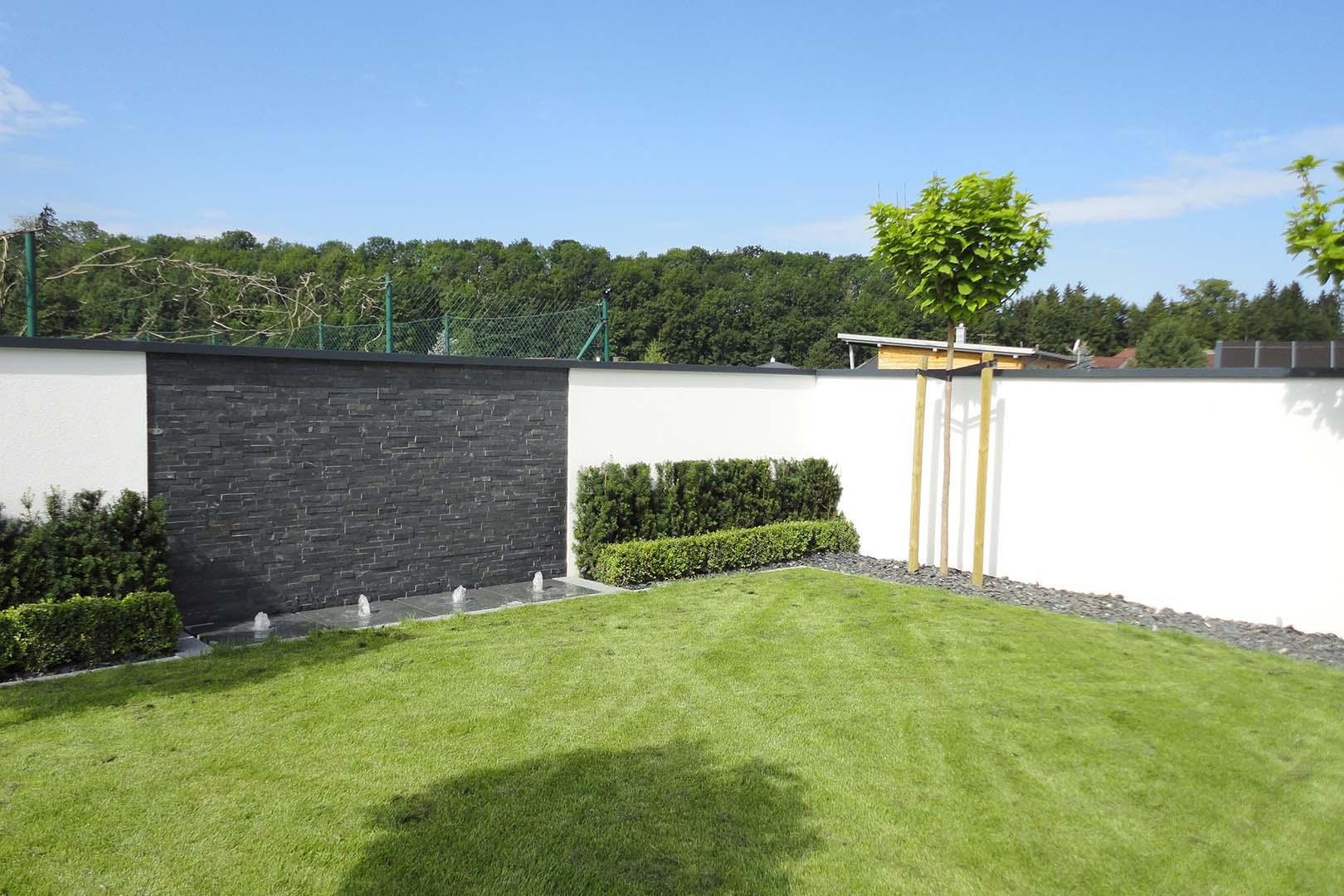 Gartengestaltung Springbrunnen