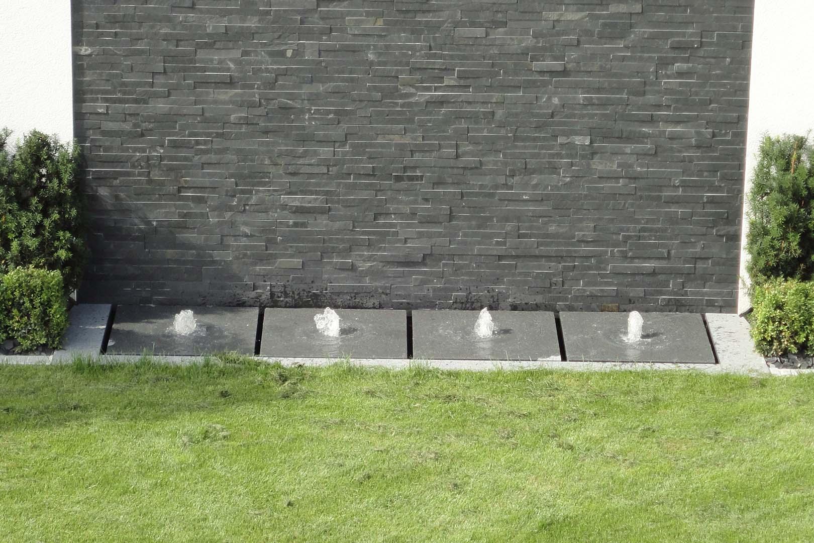 Gartenplanung Brunnen