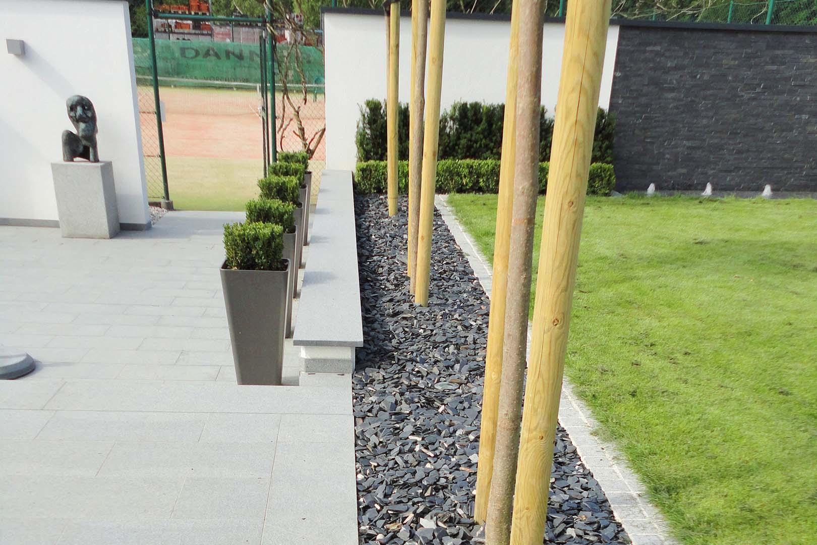 Gartenplanung Steinpflaster