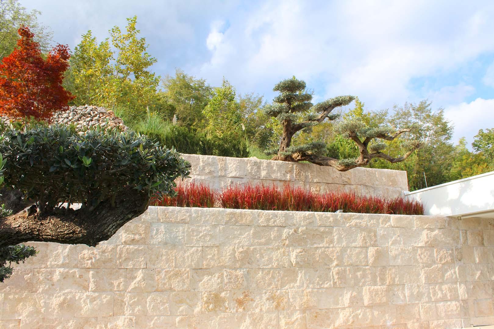 Gartendesign Steinmauer